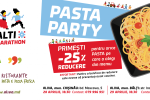 Pasta Party in restaurants Oliva will be held in Chisinau and Balti